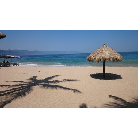 Canvas Print Mexico Sand Sea Beach Tourism Travel Stretched Canvas 10 x