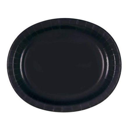 Solid Color Party Oval Paper Plate, 8Pcs - image 1 of 1