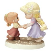 Precious Moments  We Go Hand-In-Hand  Bisque Porcelain Figurine