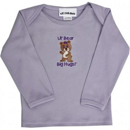 Lil Cub Hub 5CLSTGBL-1824 Lavender Long Sleeve T-Shirt - Girl Bear, 18-24 months - image 1 of 1