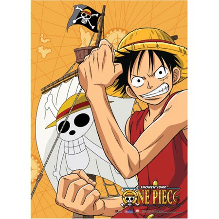 Wall Scroll - One Piece - New Anime Luffy Flex Fabric Art Anime Gifts ge5814 - image 1 of 1