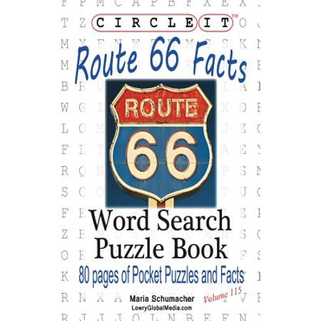 Circle It, U.S. Route 66 Facts, Word Search, Puzzle