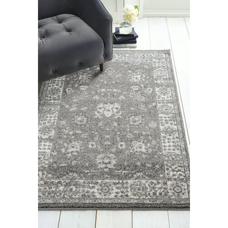 United Weavers Vienna Dream Distressed Grey Woven Polypropylene Area Rug or Runner - Dream Weavers