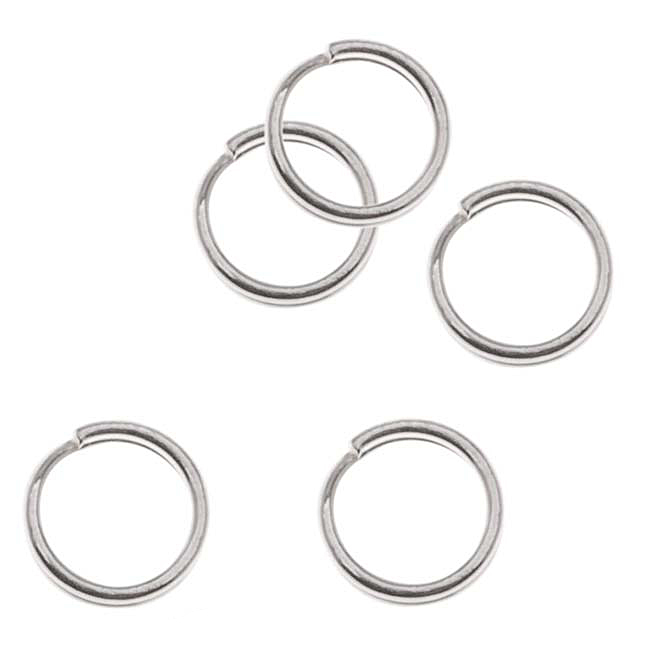 Sterling Silver Split Rings 5mm (10)
