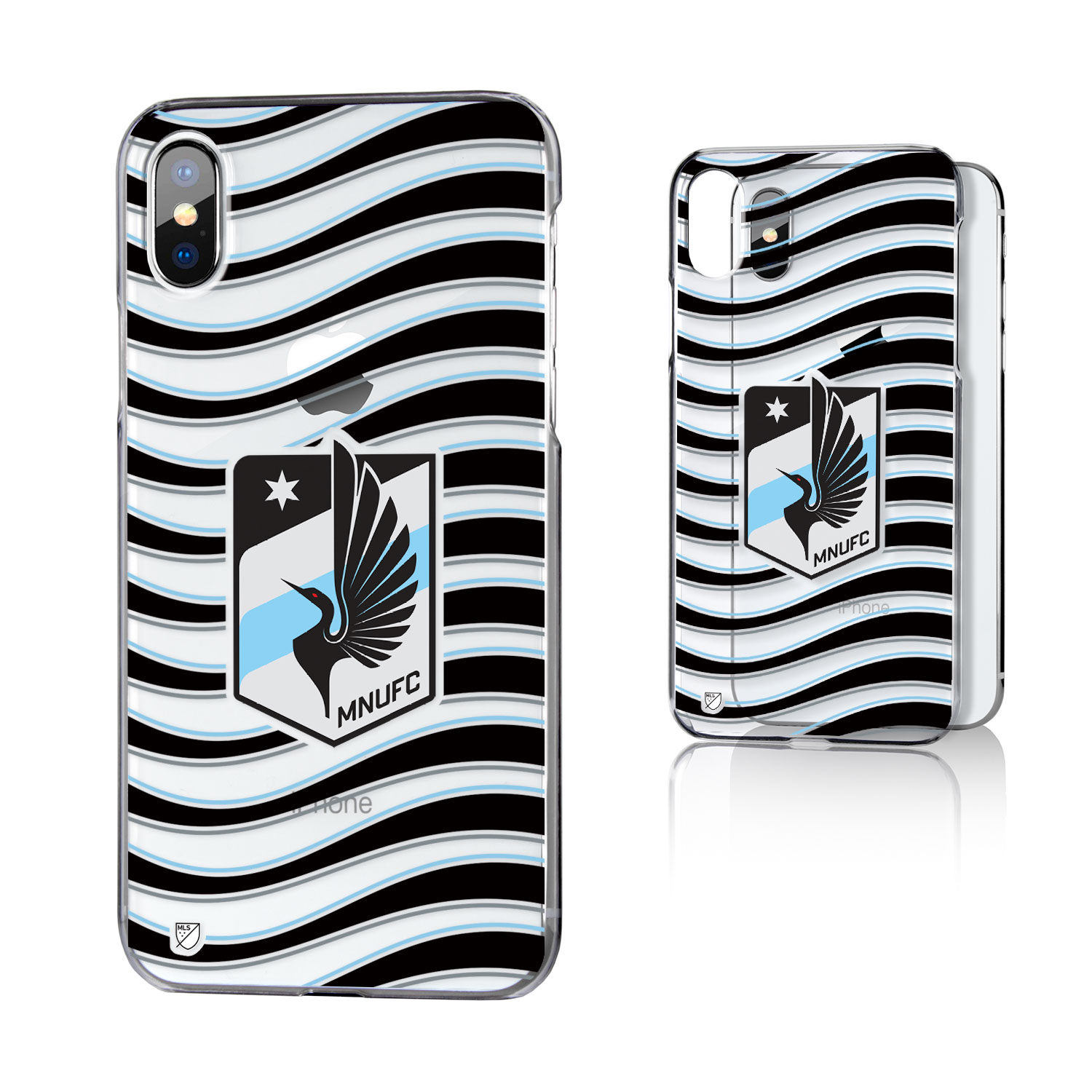 Minnesota United FC MNUFC Wave Clear Case for iPhone X