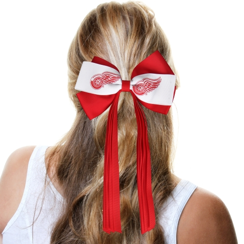 Detroit Red Wings Women's Streamer Bow - Red/White - No Size