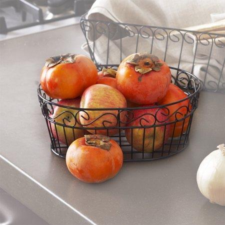 - Stella Oblong Wire Tray Basket - Scroll Design 8in