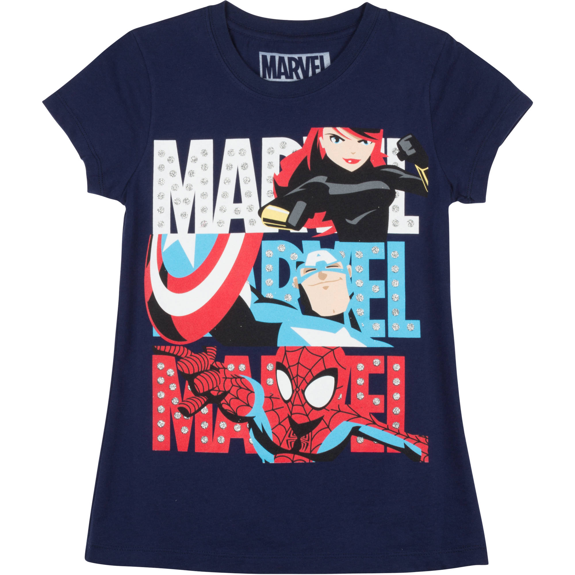 "Girls Short Sleeve Tee ""Three Marvels"""