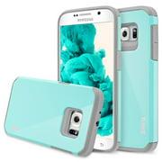 Samsung Galaxy S7 Case, Hard Impact Dual Layer Shockproof Bumper Case - Aqua Blue / Gray