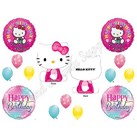Girl Birthday Supplies (HELLO KITTY BIRTHDAY PARTY Balloons Decorations Supplies Girl)