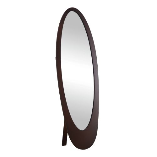 Monarch Contemporary Oval Cheval Mirror 59H in. by Monarch Specialties