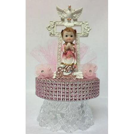 My Baptism Mi Bautizo Pink Girls Cake Decoration Cake Topper Keepsake