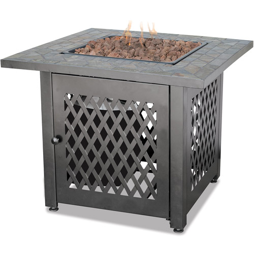 Endless Summer UniFlame LP Gas Slate Outdoor Firebowl by Blue Rhino