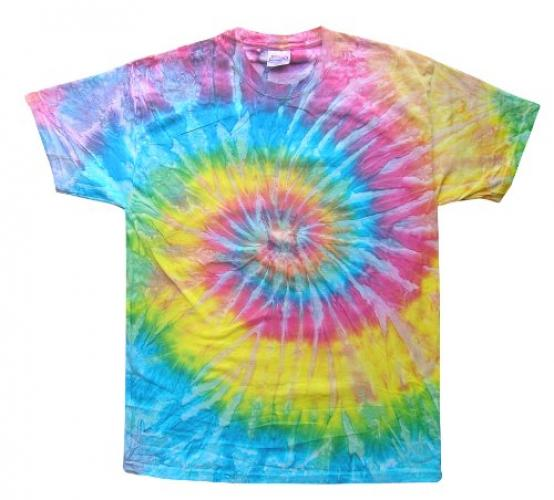 Adult Swirl Tie-Dyed Cotton Tee (Saturn Swirl) (3X-Large)