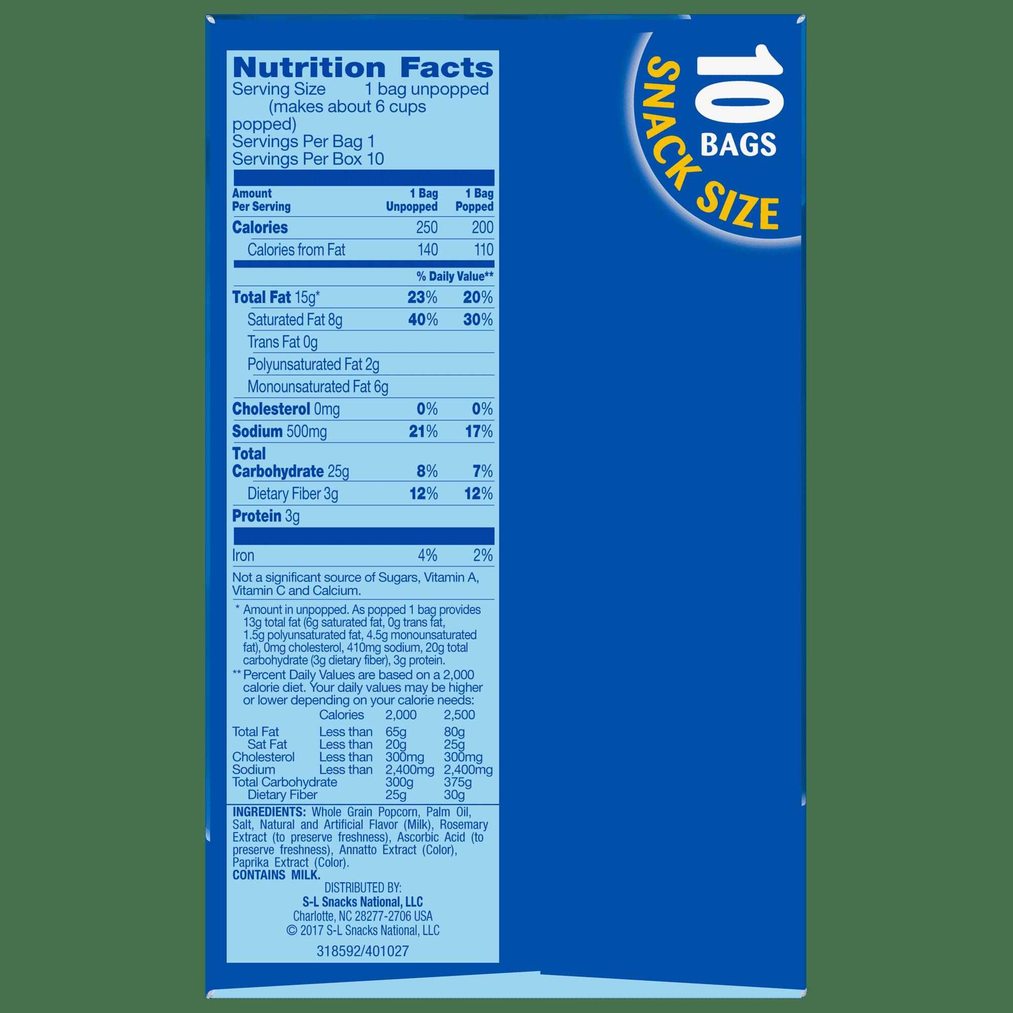 Pop Secret Movie Theater Butter Microwave Popcorn 1 75 Oz 10 Ct Walmart Com Walmart Com