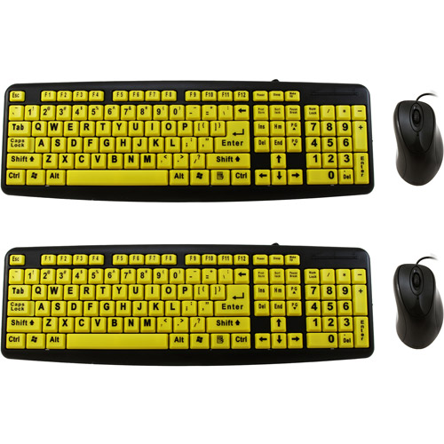 As seen on TV EZ Eyes Keyboard and Mouse, 2 pack