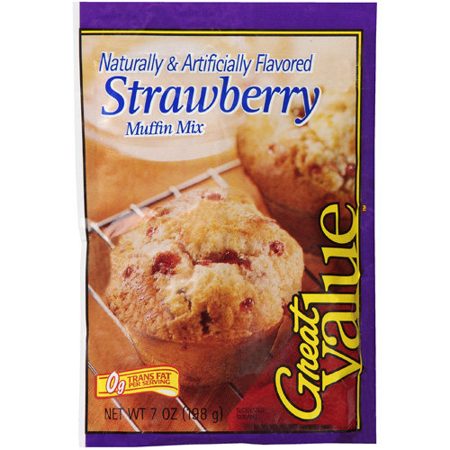 Great Value: Strawberry Muffin Mix, 7 oz