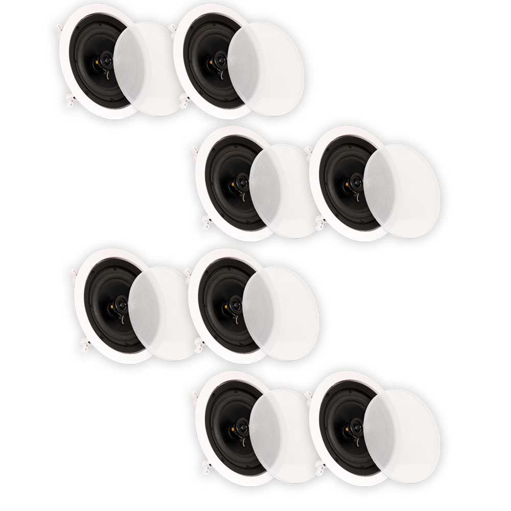 "Theater Solutions CS6C In Ceiling 6.5"" Speakers Surround Sound Home Theater 4 Pair Pack 4CS6C"