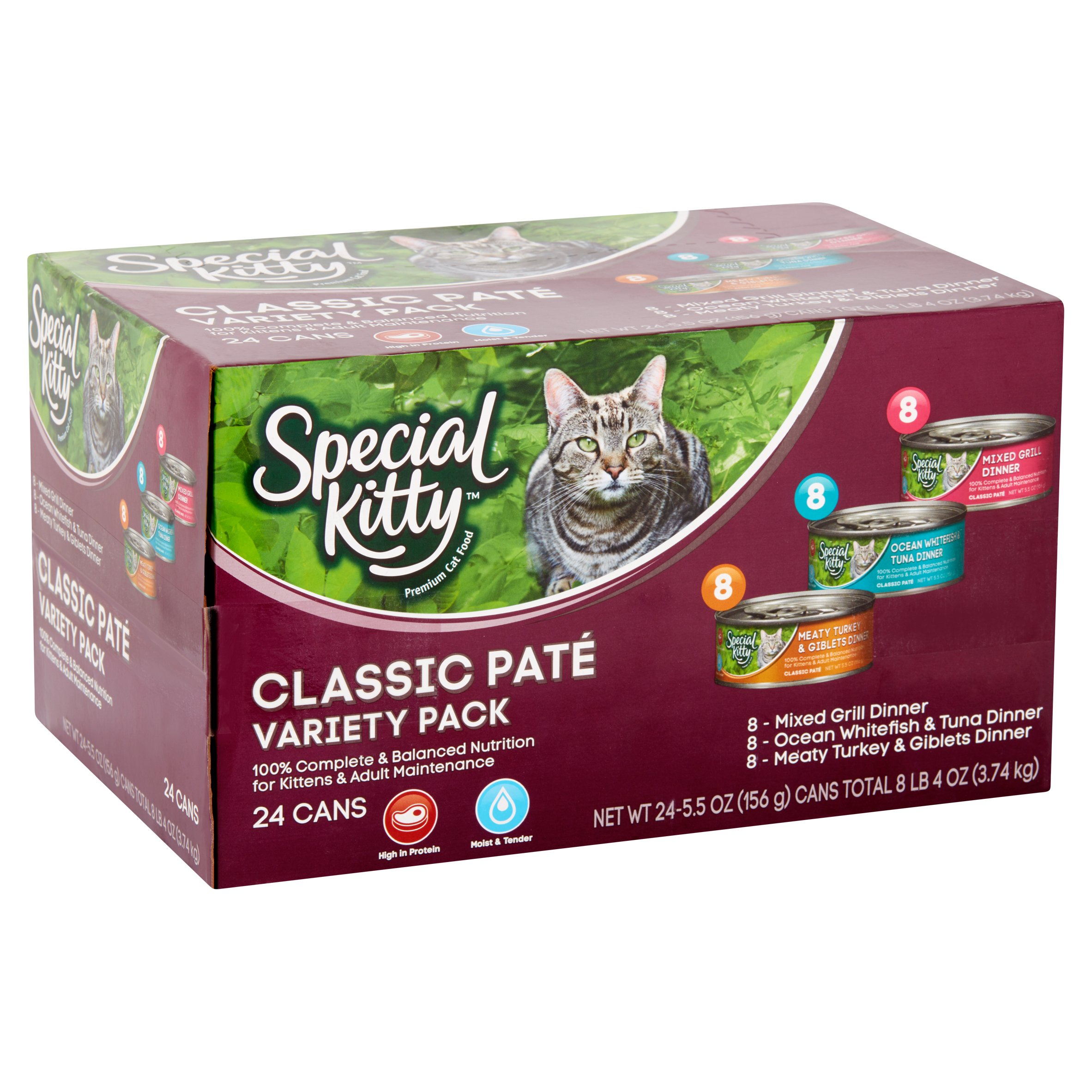 Special Kitty Classic Pate Variety Pack Wet Cat Food 5 5 Oz Cans