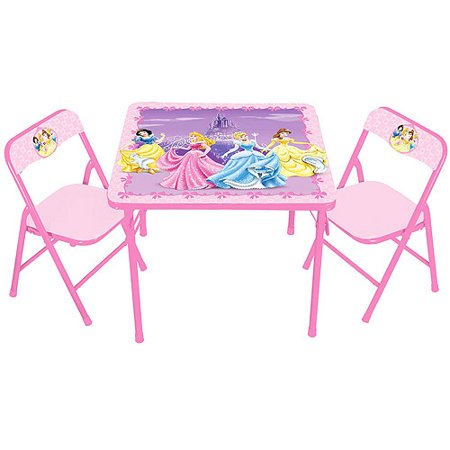 Disney Princess Activity Table And Chair Set Walmart Com