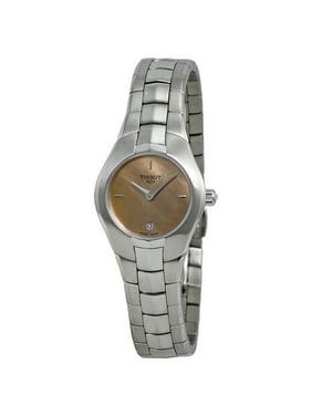 Tissot Lady Round Orange Dial Stainless Steel Ladies Ladies Watch T0960091143100