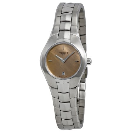 Lady Round Orange Dial Stainless Steel Ladies Ladies Watch T0960091143100 ()