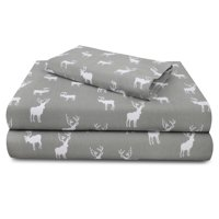 Auraa Sun Washed 100% Cotton Flannel 3 PC Sheet Set