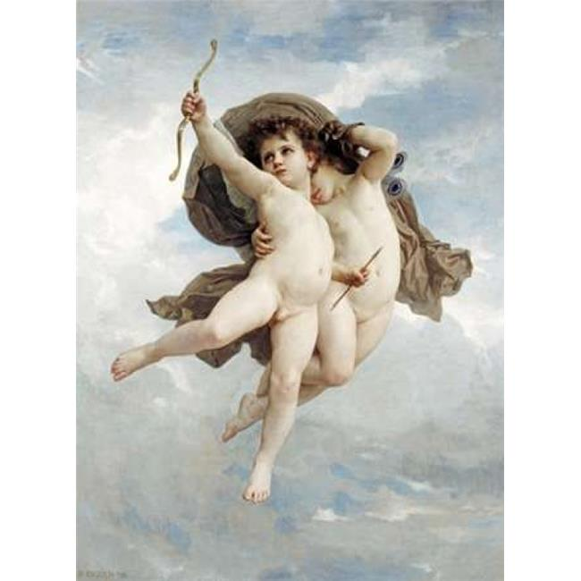Bentley Global Arts PDX265981LARGE Lamour Vainqueur Poster Print by William-Adolphe Bouguereau, 18 x 24 - Large