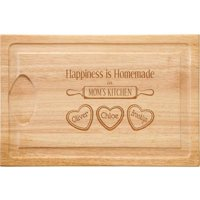 Personalized Happiness is Homemade Wood Cutting Board