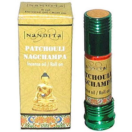 Patchouli Nag Champa - Nandita Incense Oil/Roll On - ¼ Ounce