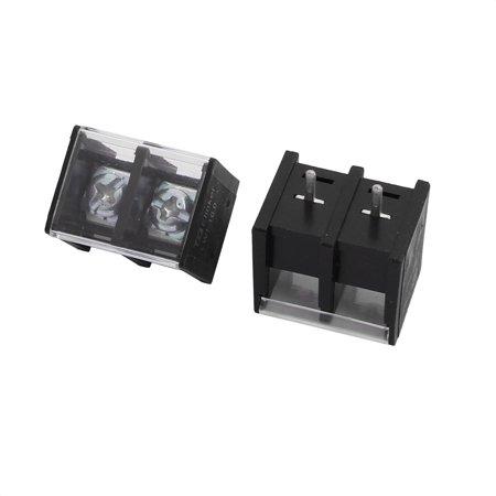 10Pcs LW2C AC 300V 20A 10mm Pas 2P Barrière bornier à vis - image 1 de 3