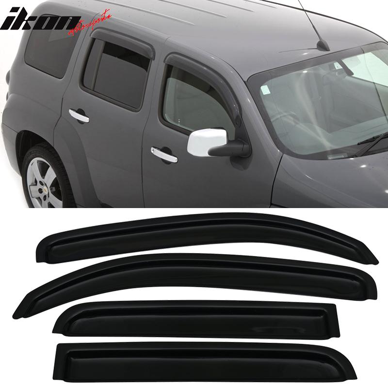 Fits 06-11 Chevy HHR Sedan In Channel Style Acrylic Window Visors 4Pc Set