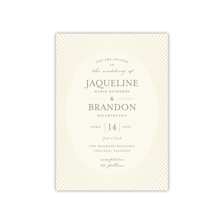 Personalized Wedding Invite - Radiant Glam - 5 x 7 Flat