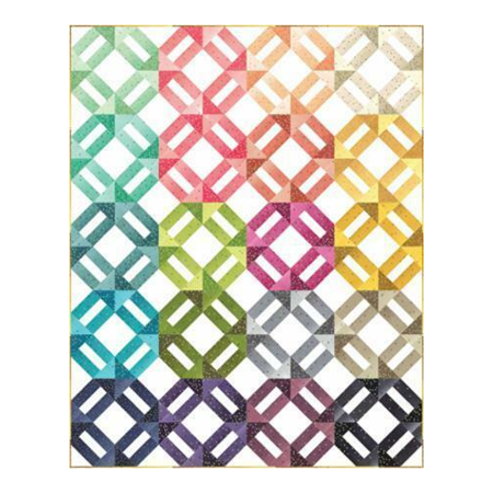 Clearance Sale~Ombre Weave Quilt Pattern - V and covid 19 (Chain Quilt Pattern coronavirus)