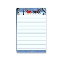 Stonehouse Collection 5.5 x 8.5 in. Holiday Sleigh Magnetic Notepad - 45011