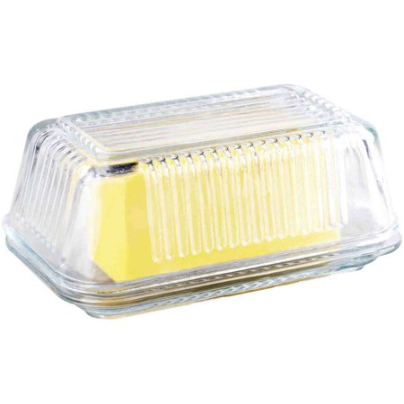 Generic Home Basics Glass Butter Dish (Stainless Steel Butter Dish)