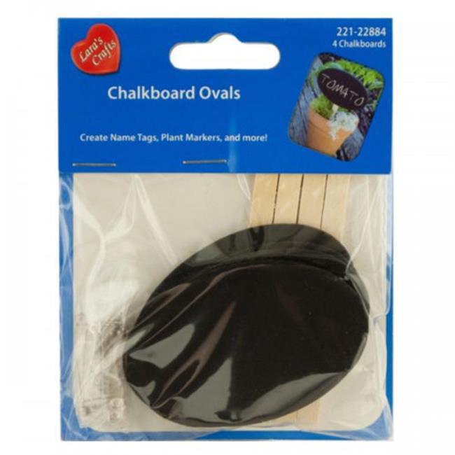 Bulk Buys KL20775 2.75 x 1.75 in. Mini Craft Chalkboard Ovals