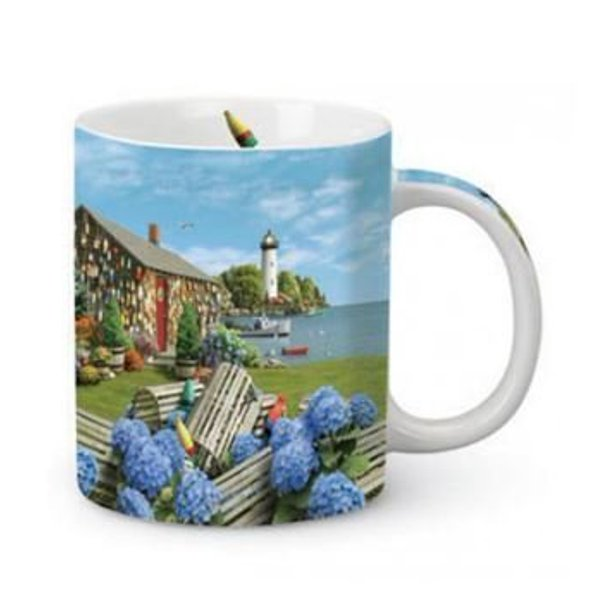 13oz Lighthouse Coffee Mug With Ocean Scene Cape Shore Walmart Com Walmart Com