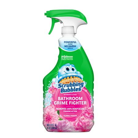 (2 pack) Scrubbing Bubbles Bathroom Grime Fighter Trigger, Floral Fusion, 32 fl oz