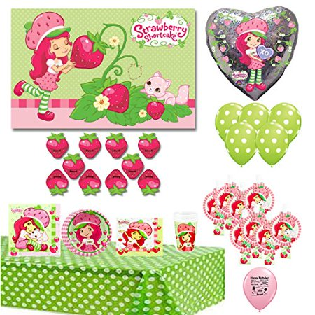 Strawberry Shortcake Party Supplies, Balloons and Party Game Bundle - Party City Strawberry Shortcake