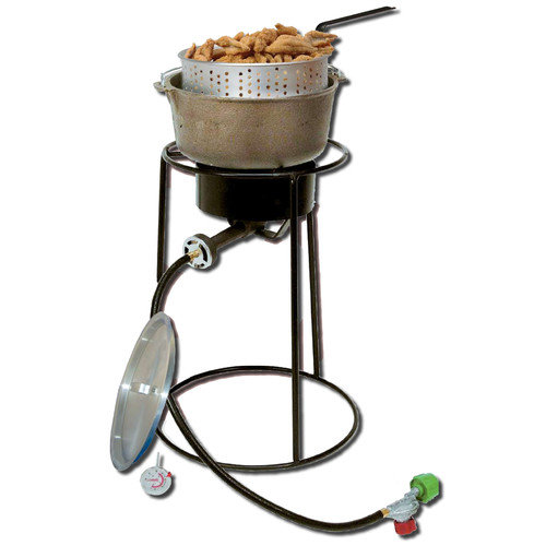 King Kooker Outdoor Cooker Package with Cast Iron Pot