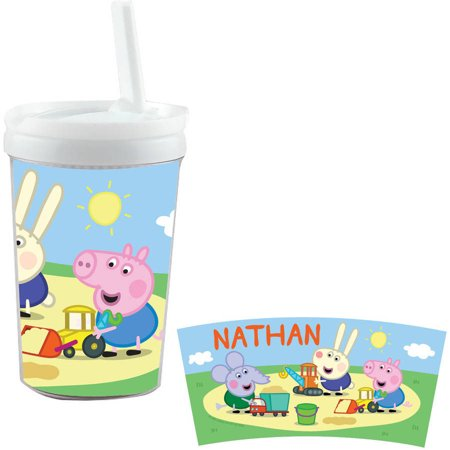 Peppa Pig Plastic Cup (Personalized Peppa Pig George And Friends Playtime Sippy)