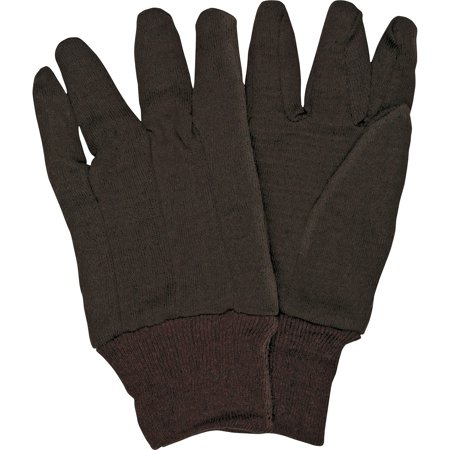 Safety Brown Jersey Gloves (MCR Safety, MCSCRW7100D, General Purpose Brown Jersey Gloves, L, 12 / Pack, Brown )