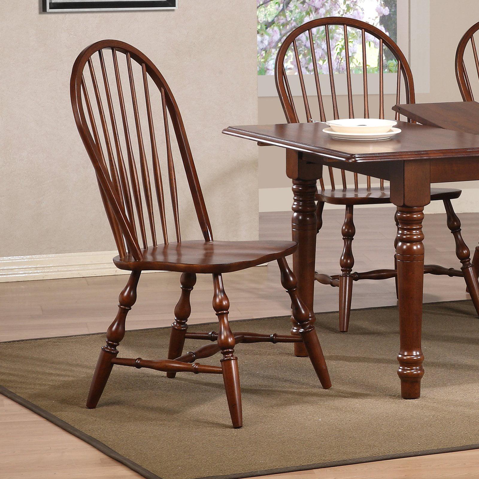 Sunset Trading Windsor Spindleback Dining Chair - Chestnut ...