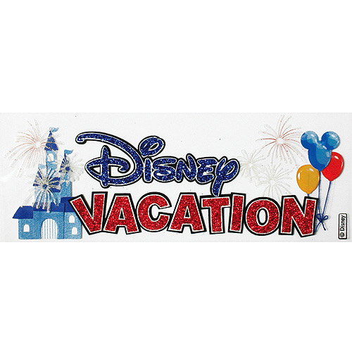 Disney Title Dimensional Stickers, Disney Vacation