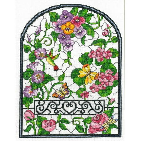 Summer Stained Glass Counted Cross Stitch Kit, 10