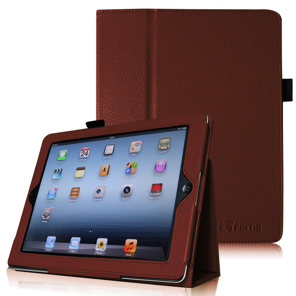 Fintie iPad 2/ iPad 3/ iPad 4 Gen Folio Case - PU Leather Cover with Auto Wake/ Sleep Feature, Black