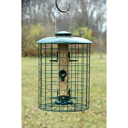 Wood Link Caged 6 Port Seed Tube -