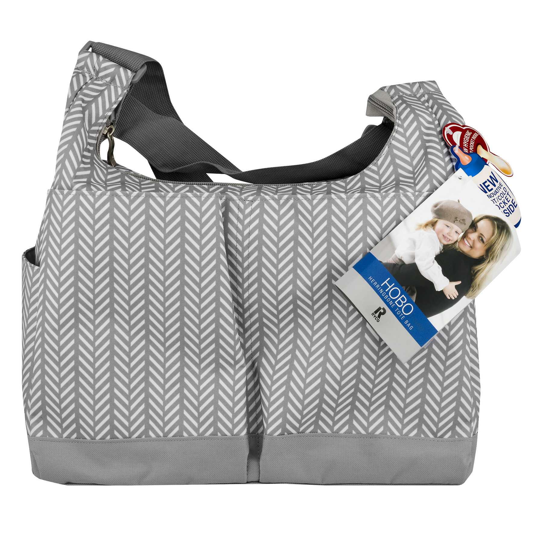Ryco Tote Bag Herringbone Hobo, 1.0 CT