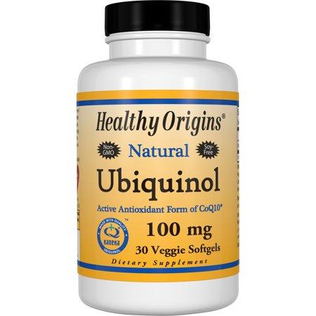 (Healthy Origins Ubiquinol 100 mg Vegetarian Softgels, 30 Ct)